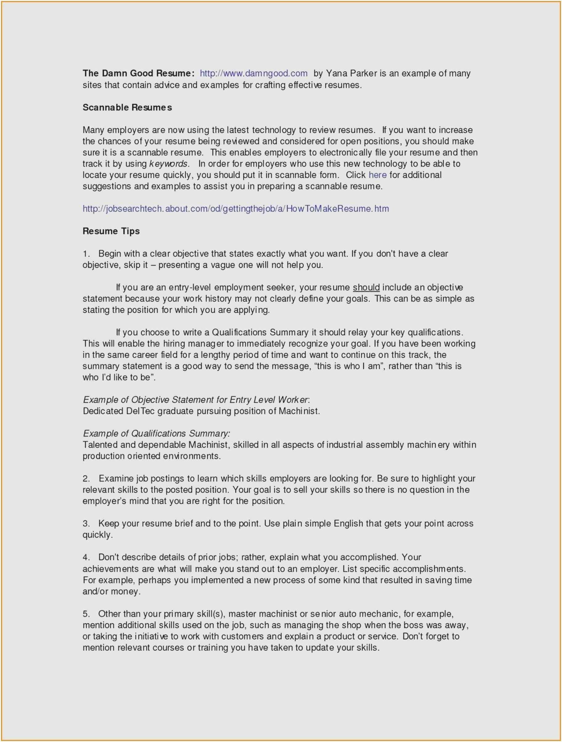 Curriculum Vitae Model English
