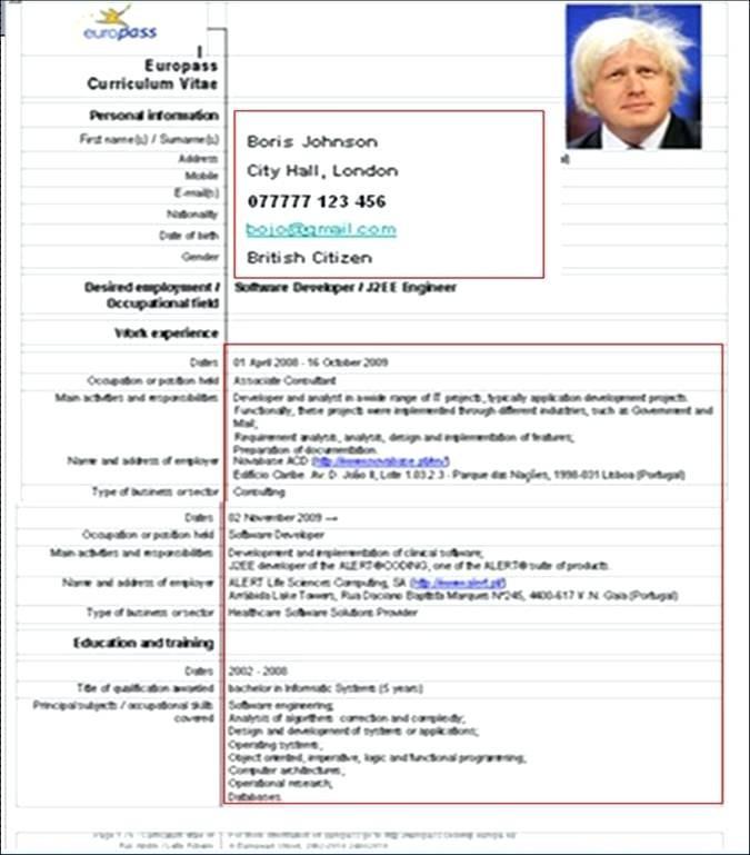 Cv Europass English Example Großartig Europass Cv Sample Doc Student