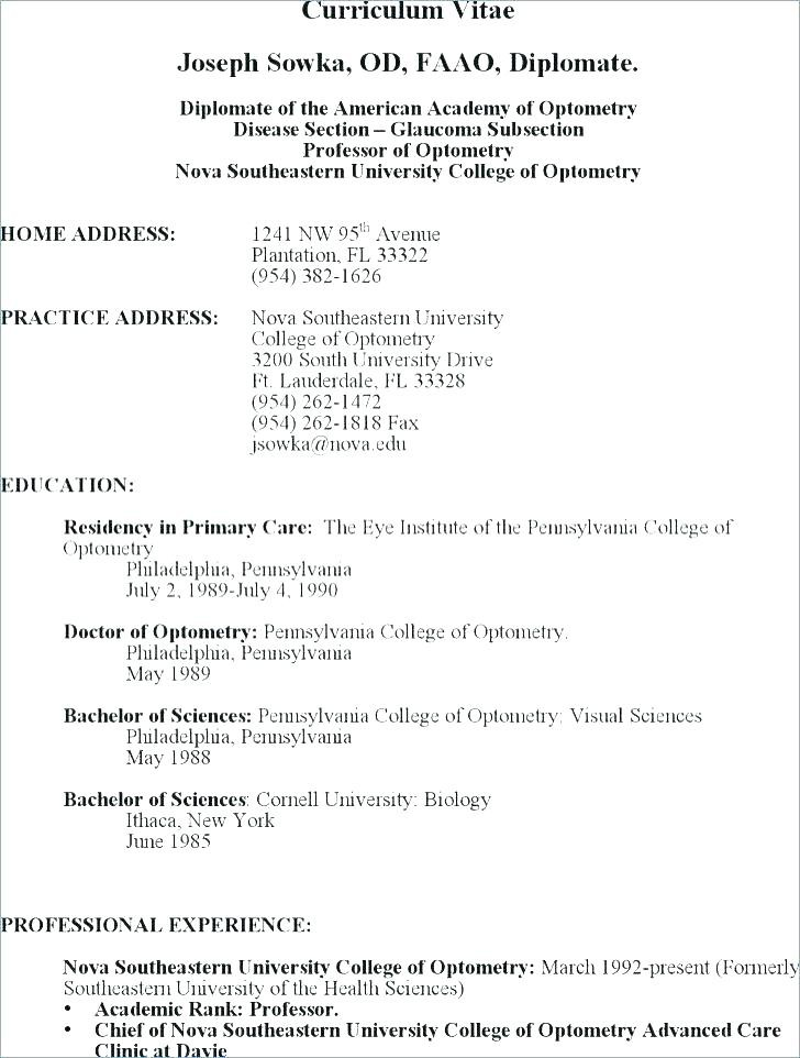 Cv Example For Undergraduate Students