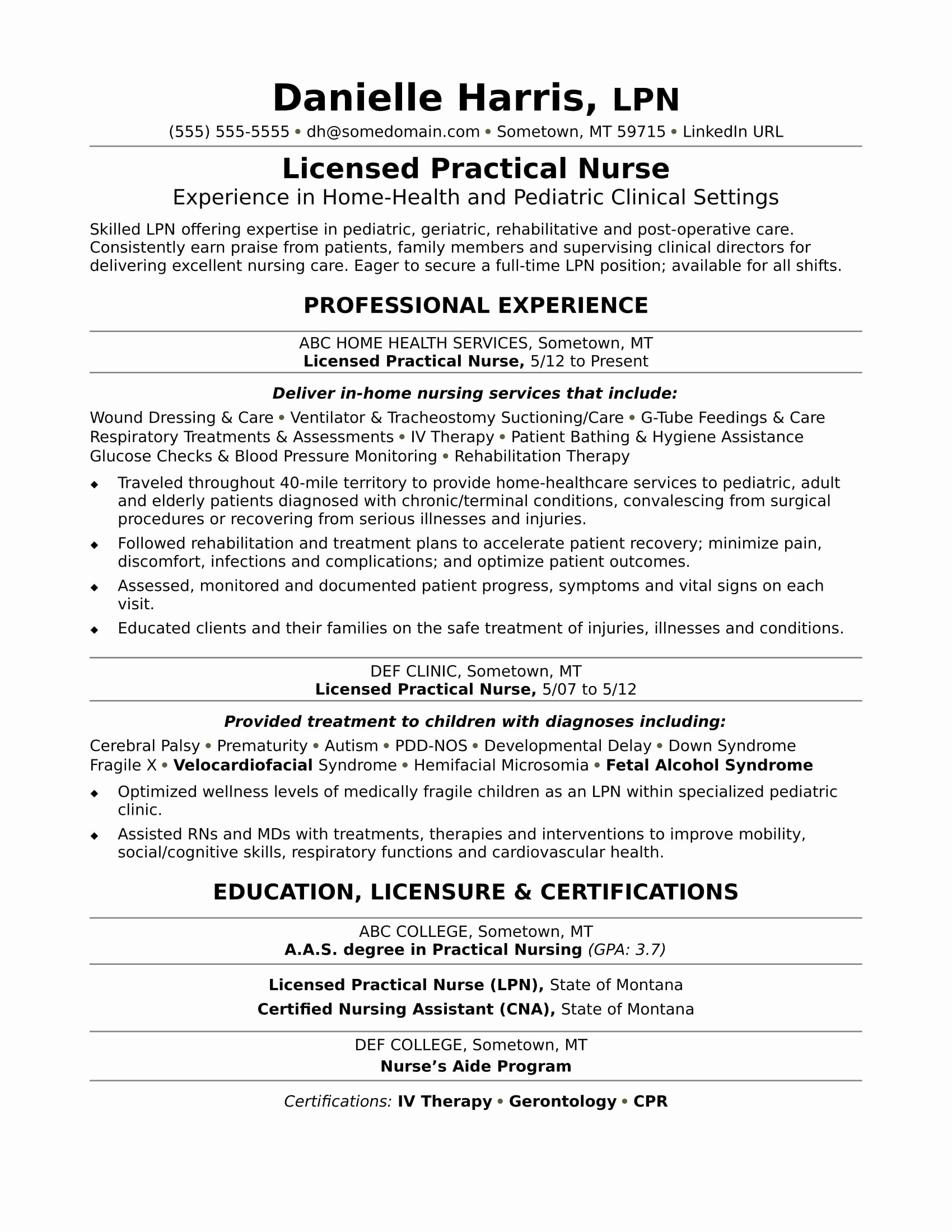 Cv Examples For College Students With No Experience Elegant Cna