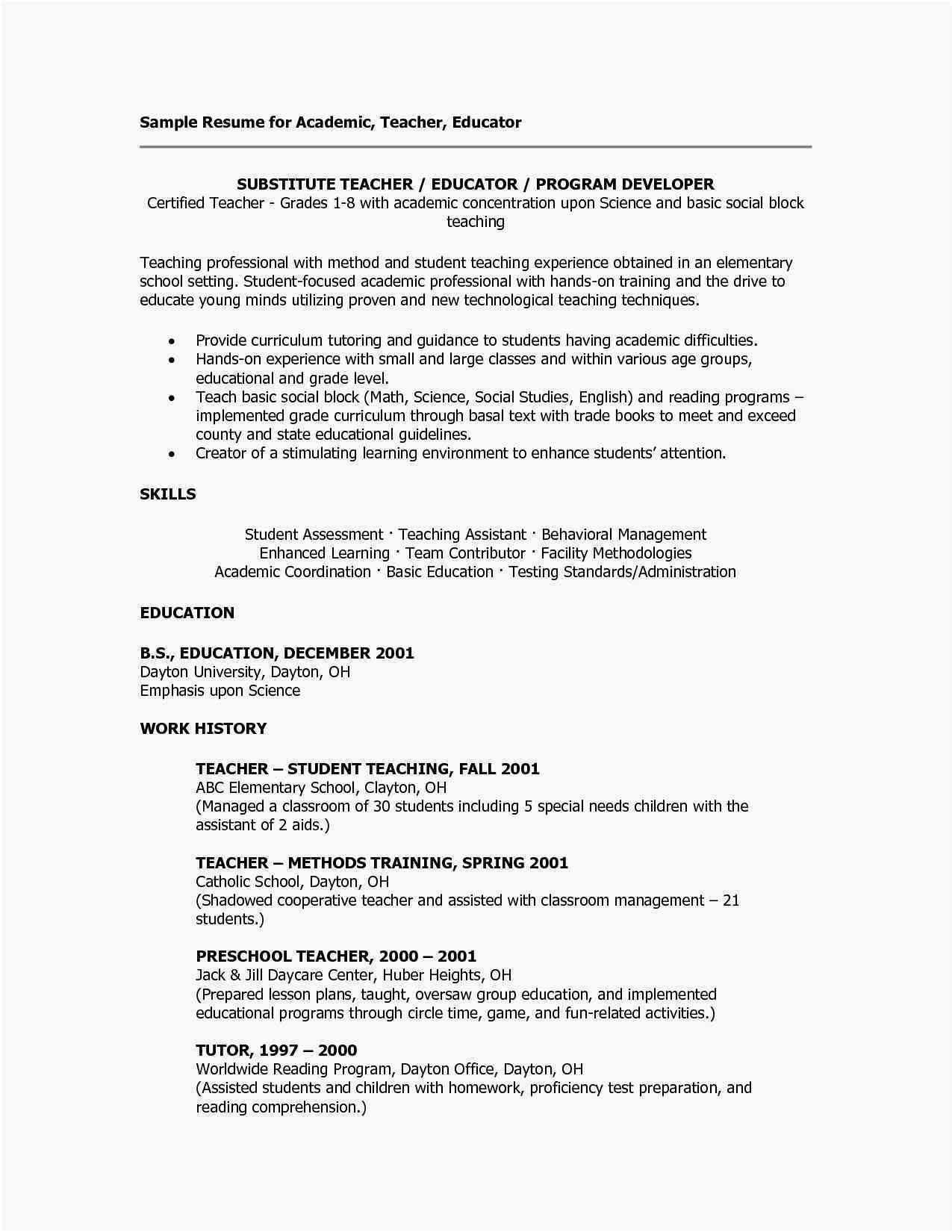 Cv For Online English Teacher Schon 30 New Resume Template Picture