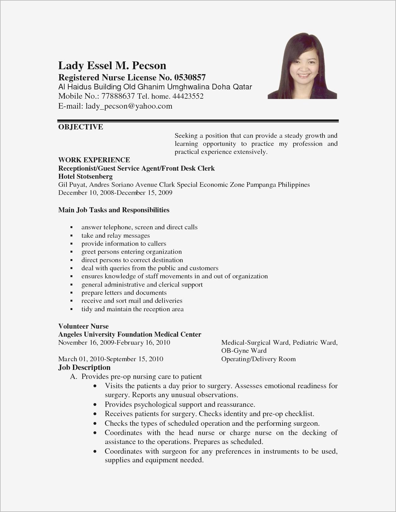 Cv Format Pdf For Teaching Job Schon Sample Resume Lovely Fresh 0d