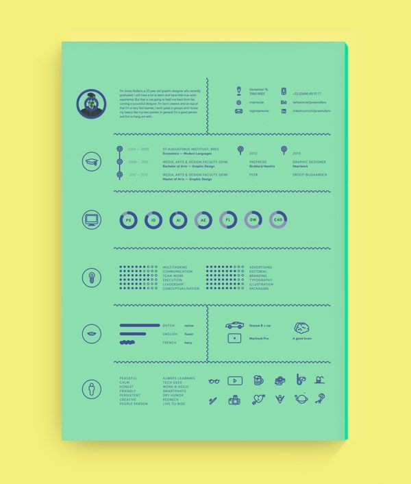Cv Graphic Design Inspiration Cool 40 Creative Resume Designs 2014 Of 47