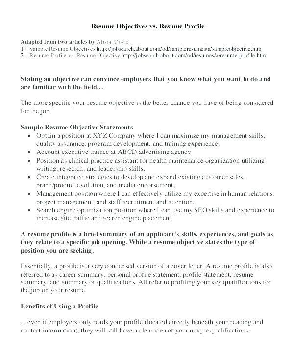 Cv Profile Statement Examples Schon 25 Elegant Resume Opening