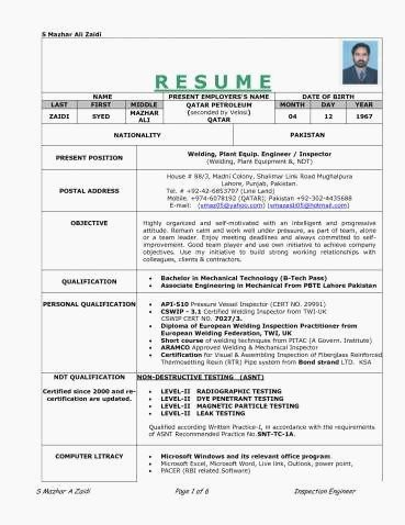 Cv Sample For Teacher In Pakistan Best Of Welder Resume Examples