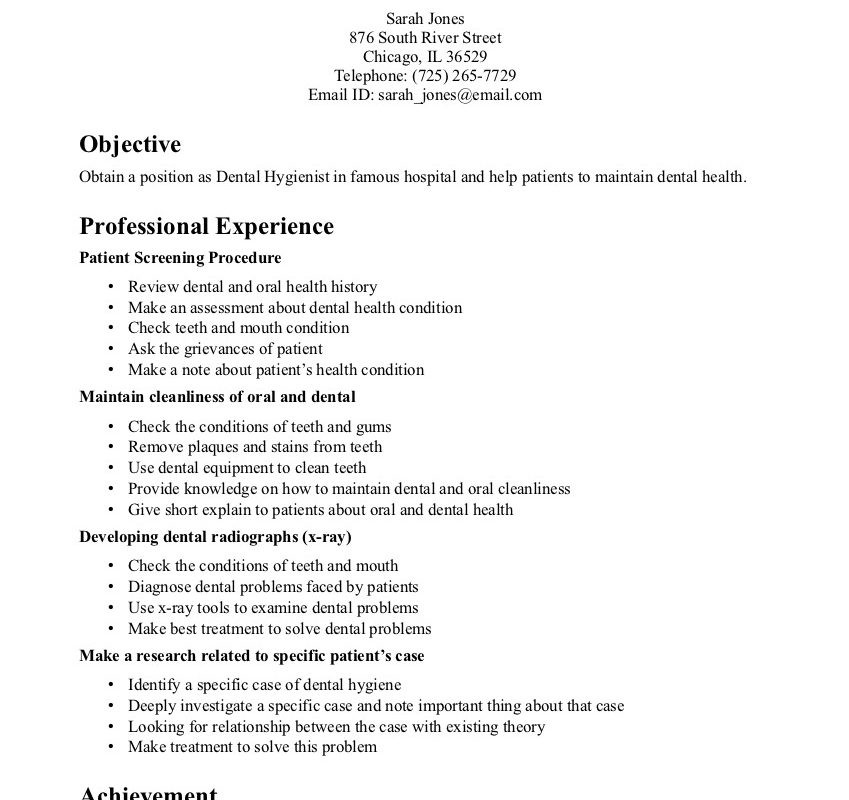Dentist Cv Sample Uk Schon 15 Resume Pdf Proposal Technology Of