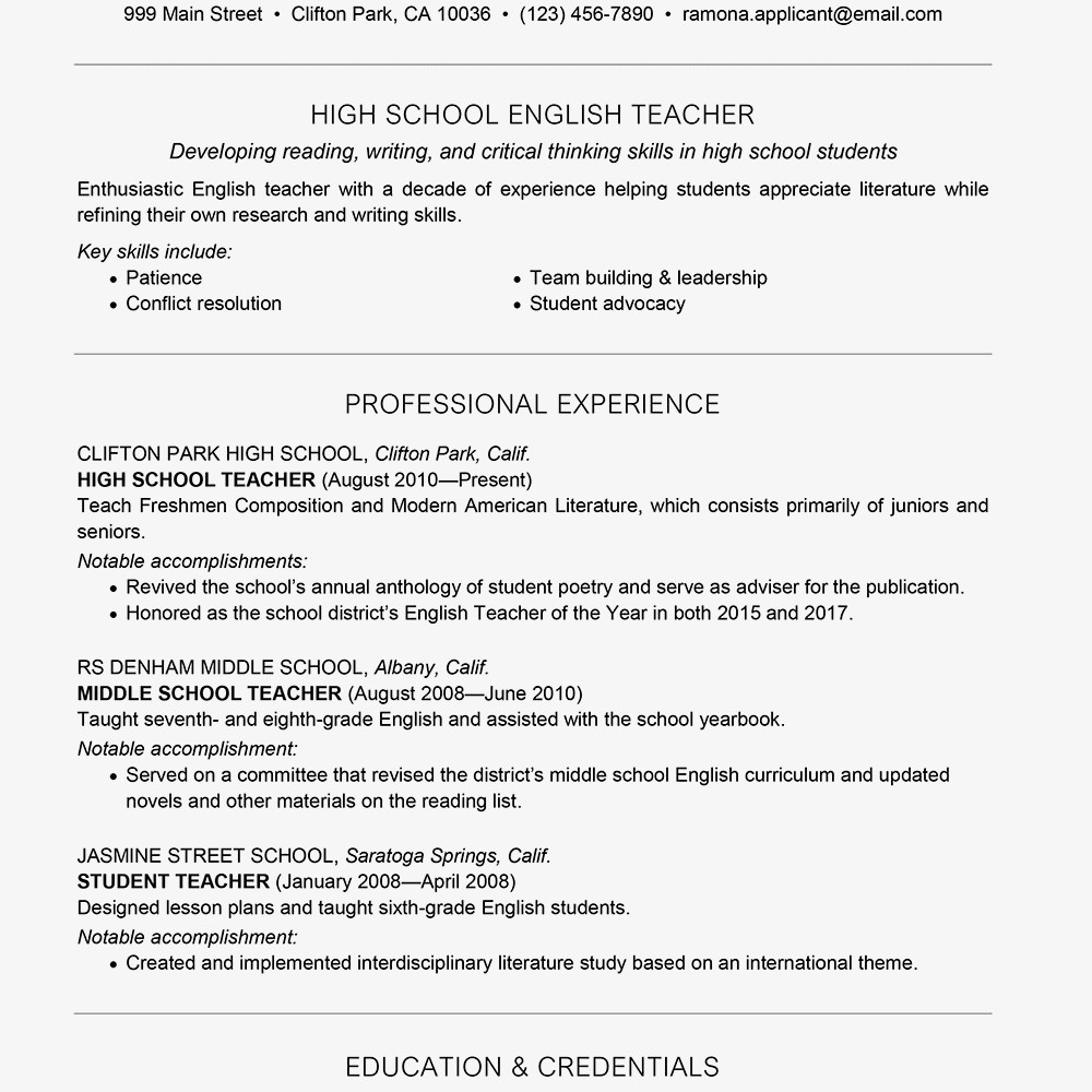 English Teacher Cv Sample Luxus Teacher Resume Examples And Writing Tips