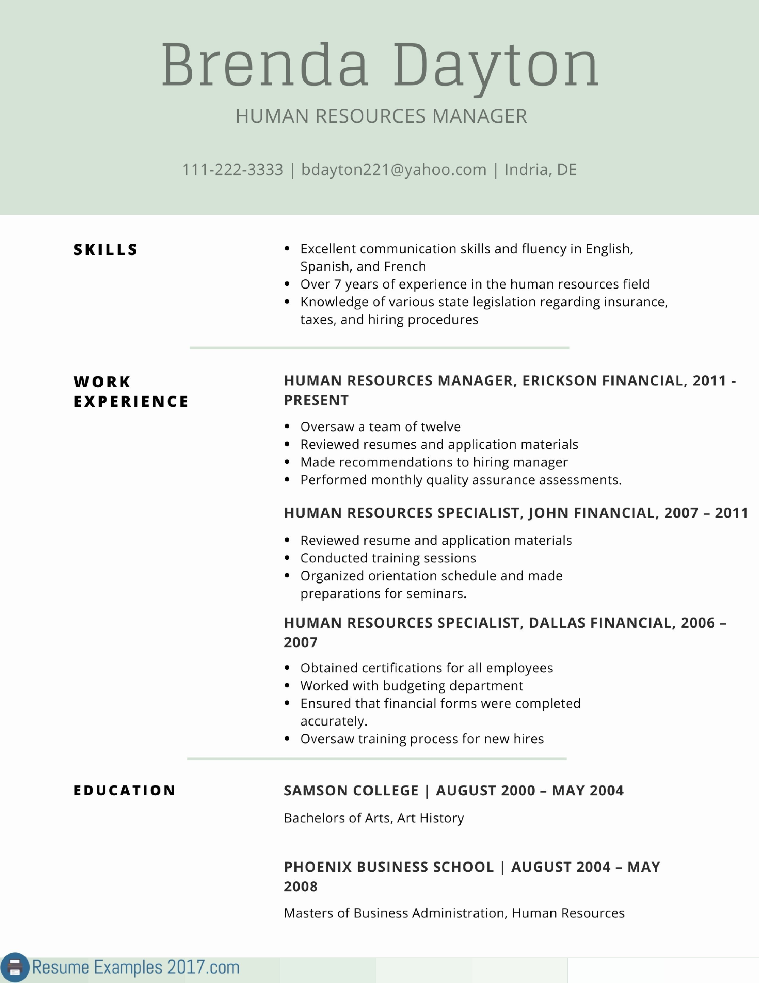 Free Resume Template Word New Awesome Examples Resumes Ecologist