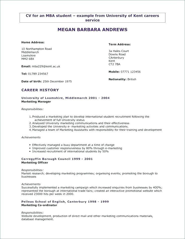 High School Cv Examples For Students With No Experience Cool High