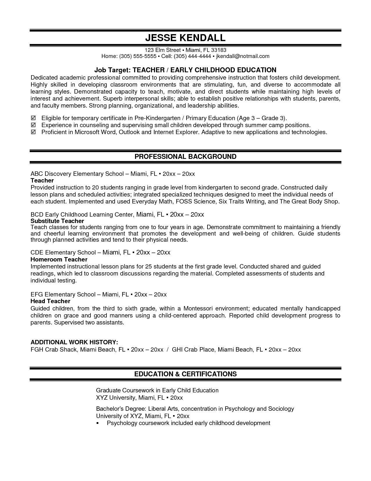 Resume Example For High School Student With Experience Alexa