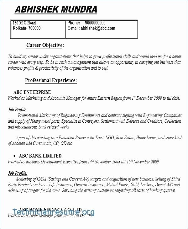 High School Cv Examples for Students with No Experience ...