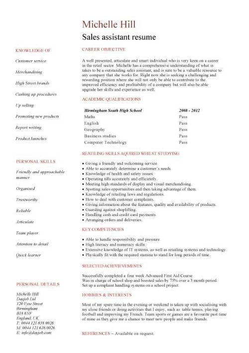 Lebenslauf Englisch Sales Manager Elegant Cv Examples for ...