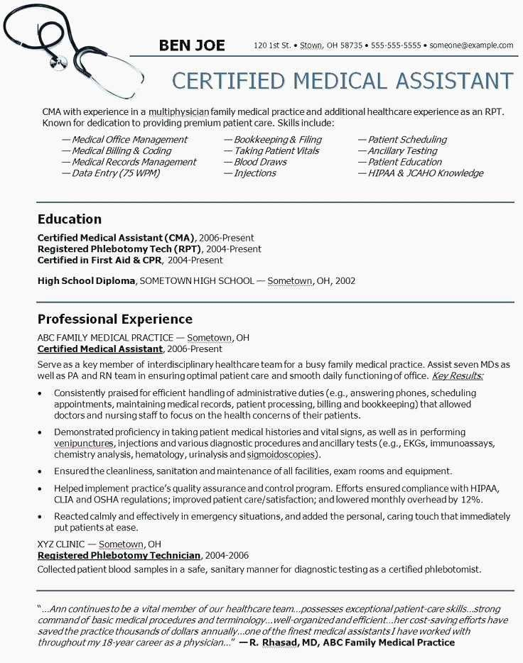 Medical Consultant Cv Example Schon 73 Beautiful S School Fice