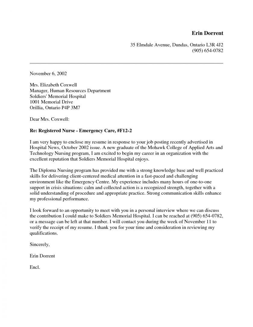 Nursery Nurse Cover Letter Sample Cover Letter