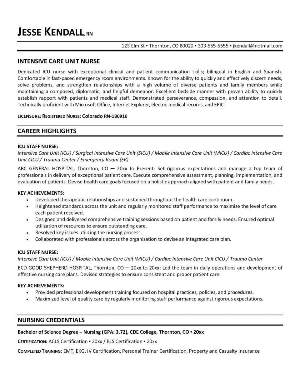 Professional Cv Template Uk Cool 46 Standard Registered ...