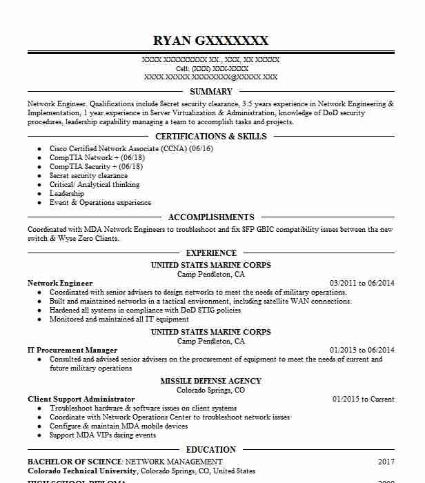 Professional Engineering Cv Examples Luxus Network Engineer Resume Sample Technical Resumes Of