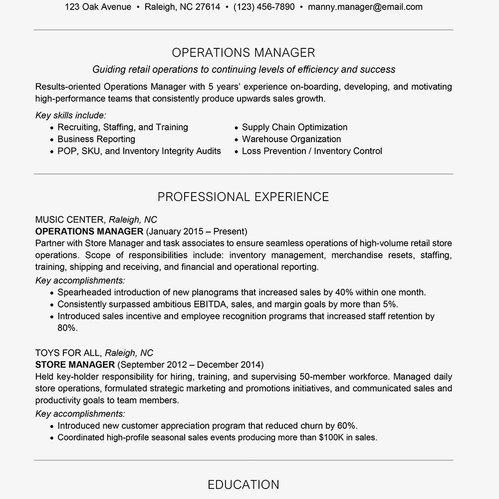 Sales Manager Cv Example Schon Management Resume Examples And Writing Tips Of