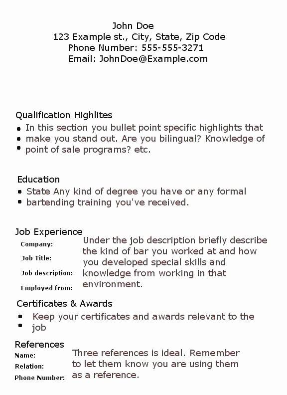60 Simple Cv Sample For Job