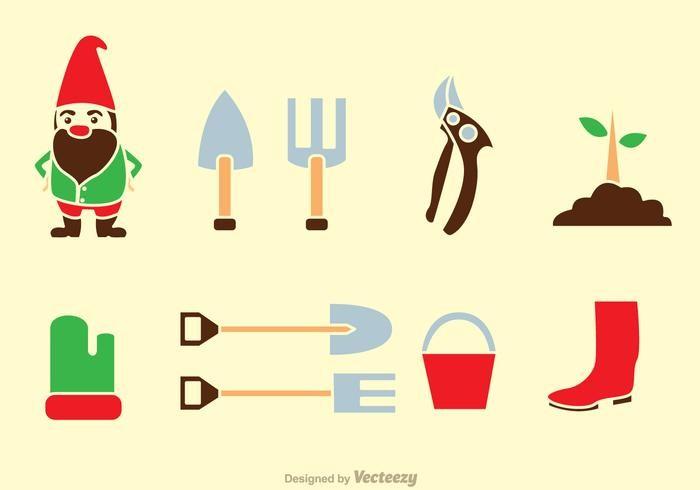 Vector Caricature Illustrator Inspirational Gardening tools