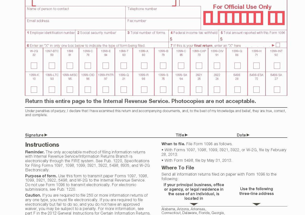 form 1099 Instructions Irs
