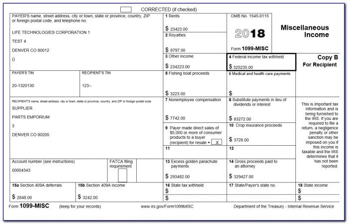 Form 1099 Misc 2018 Meaning