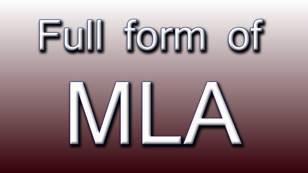 Form 16b Meaning Luxury Full form Of Mla