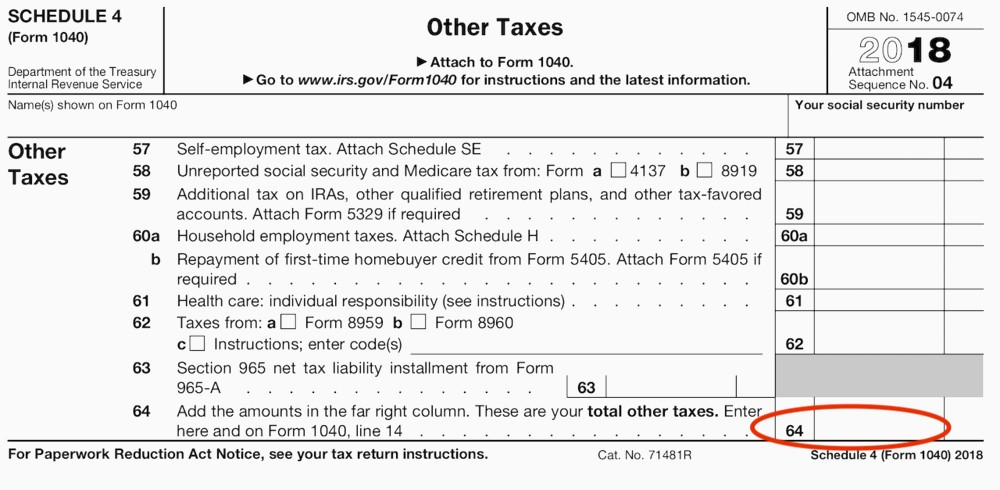 Form 1040 Schedule A