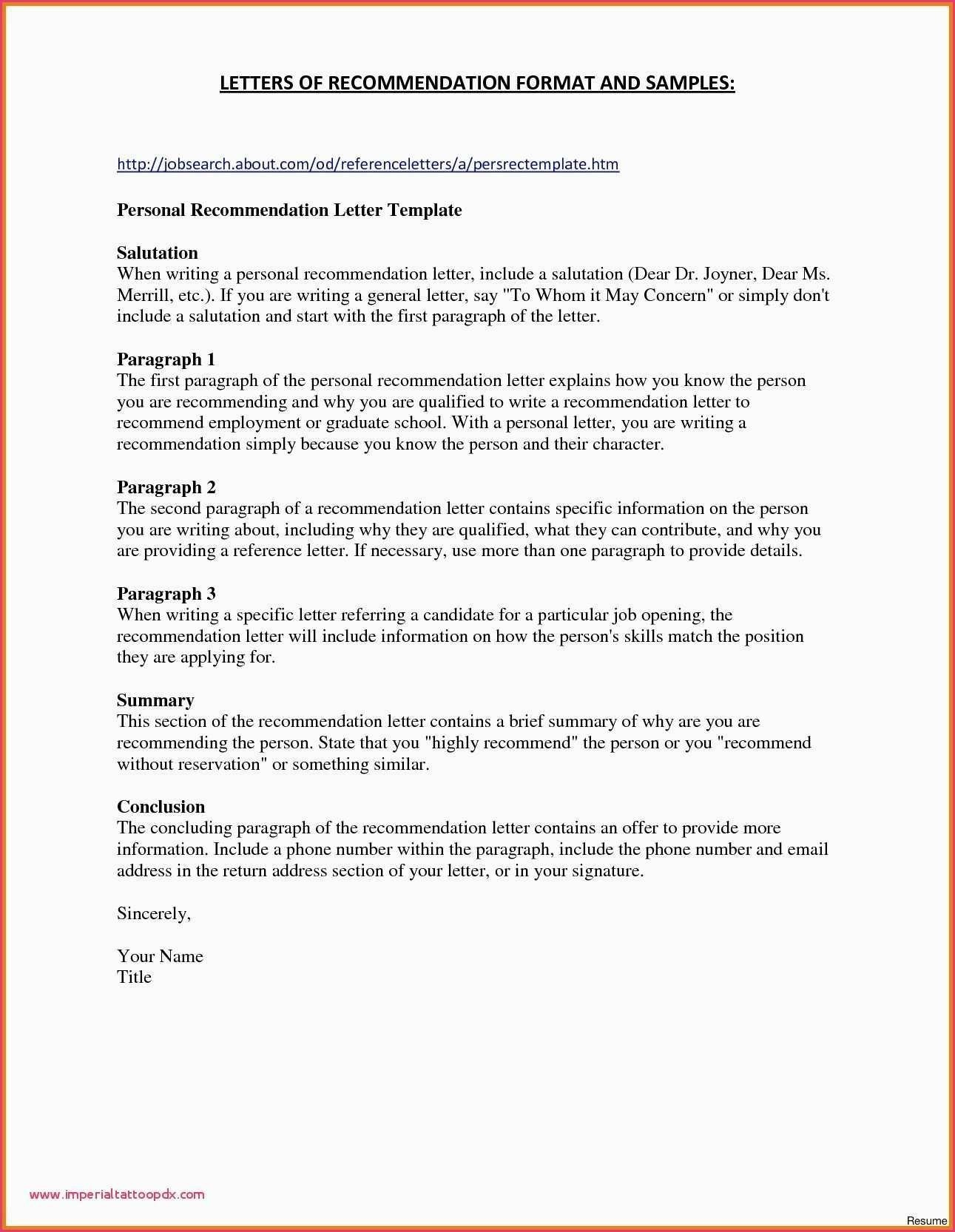 Standard Form Letter Format Beautiful Sample Formal To