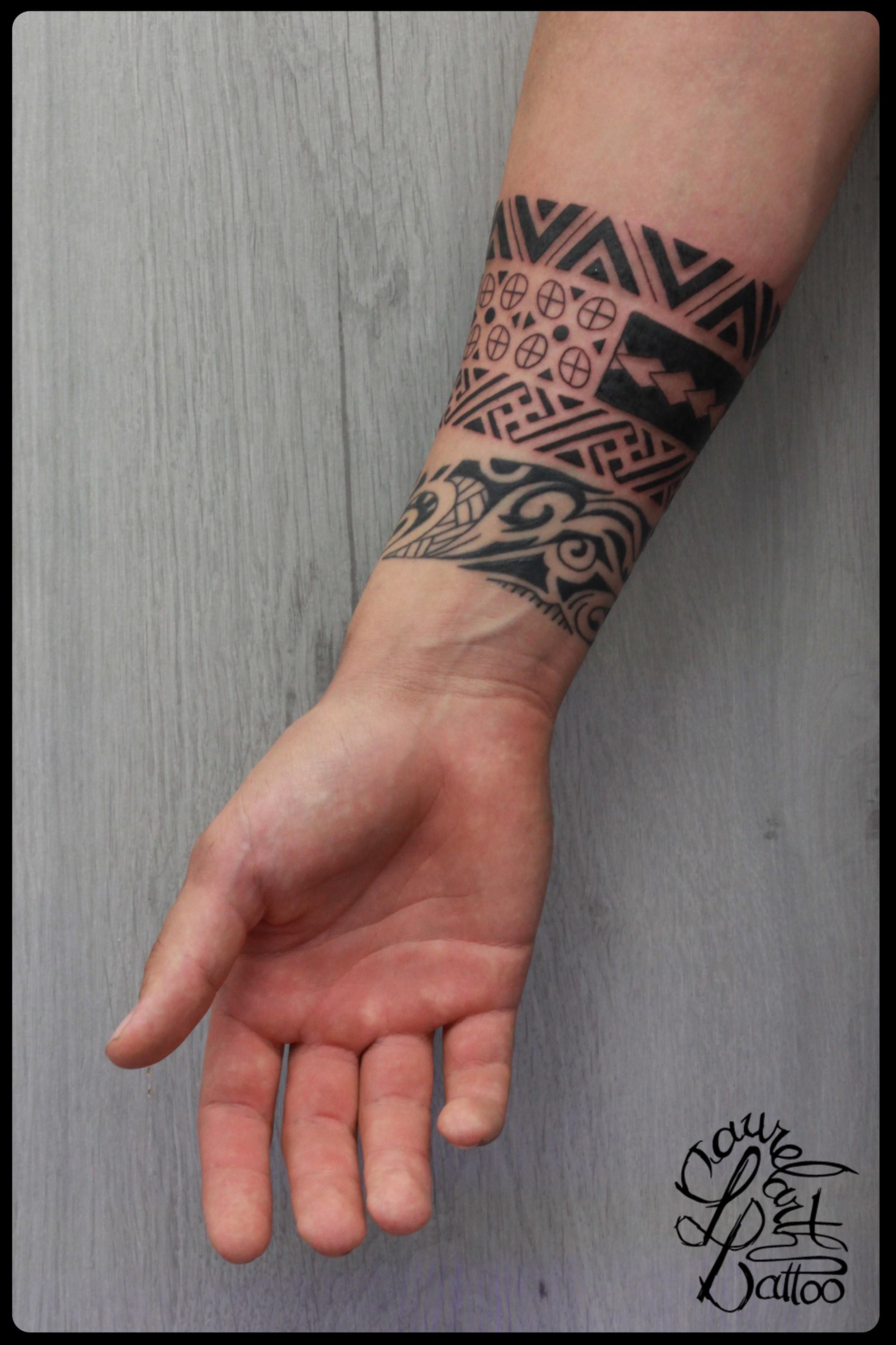 Tatouage Bracelet Poignet Homme Maori