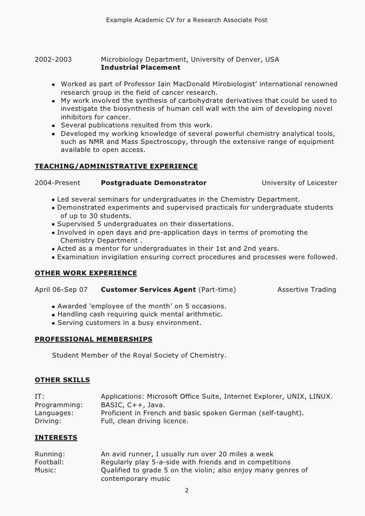 Academic Cv Examples Uk Único Basic Resume Example Inspirational ...