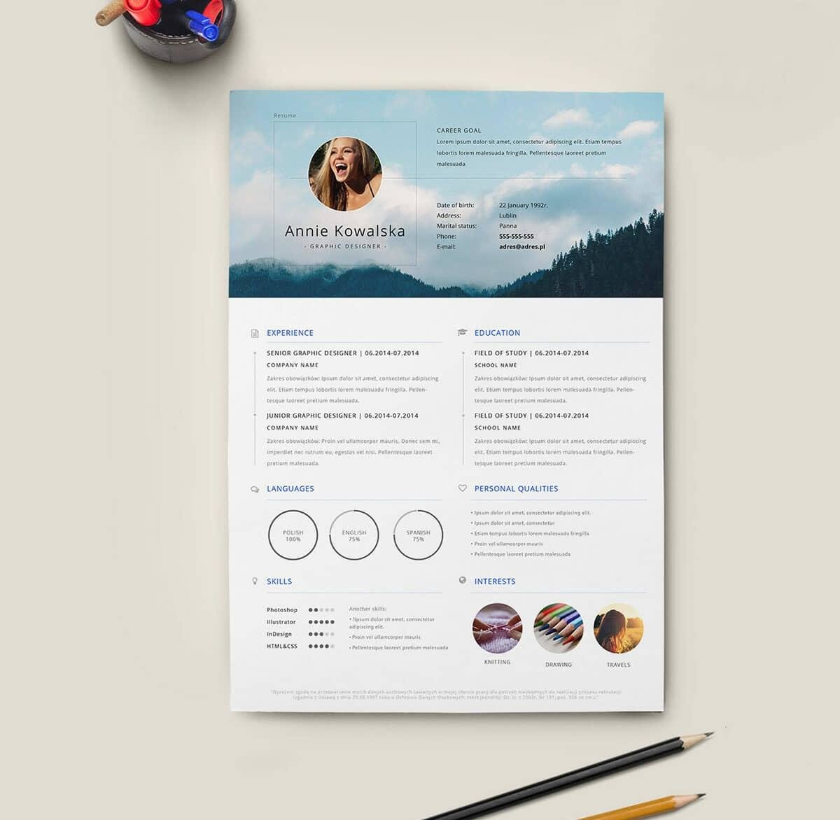Cv Template Indesign Free Download Lujo Free Resume Templates 18
