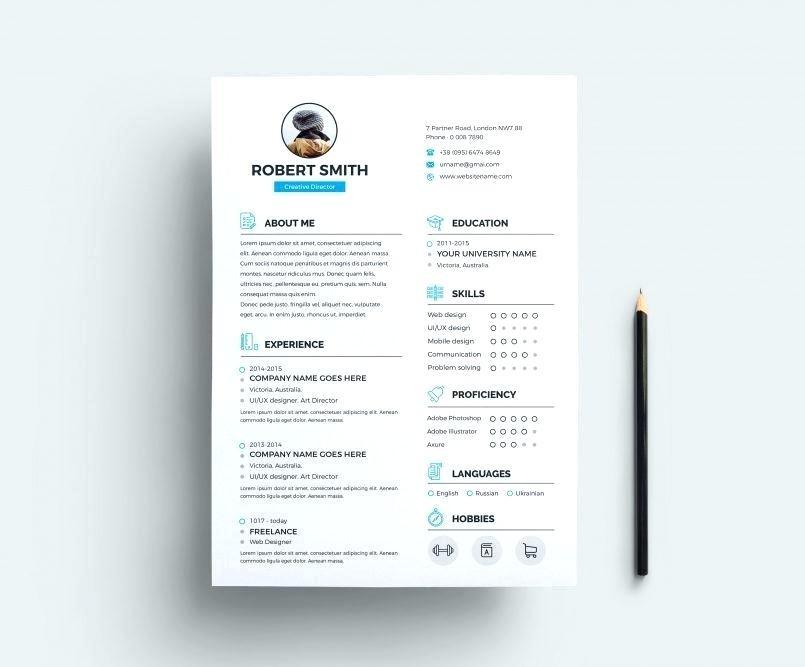 Indesign Cv Template Free Download Genial Resume Templates Joyeverafteronline