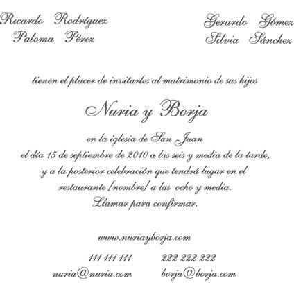 Texto Invitaciones De Boda Civil