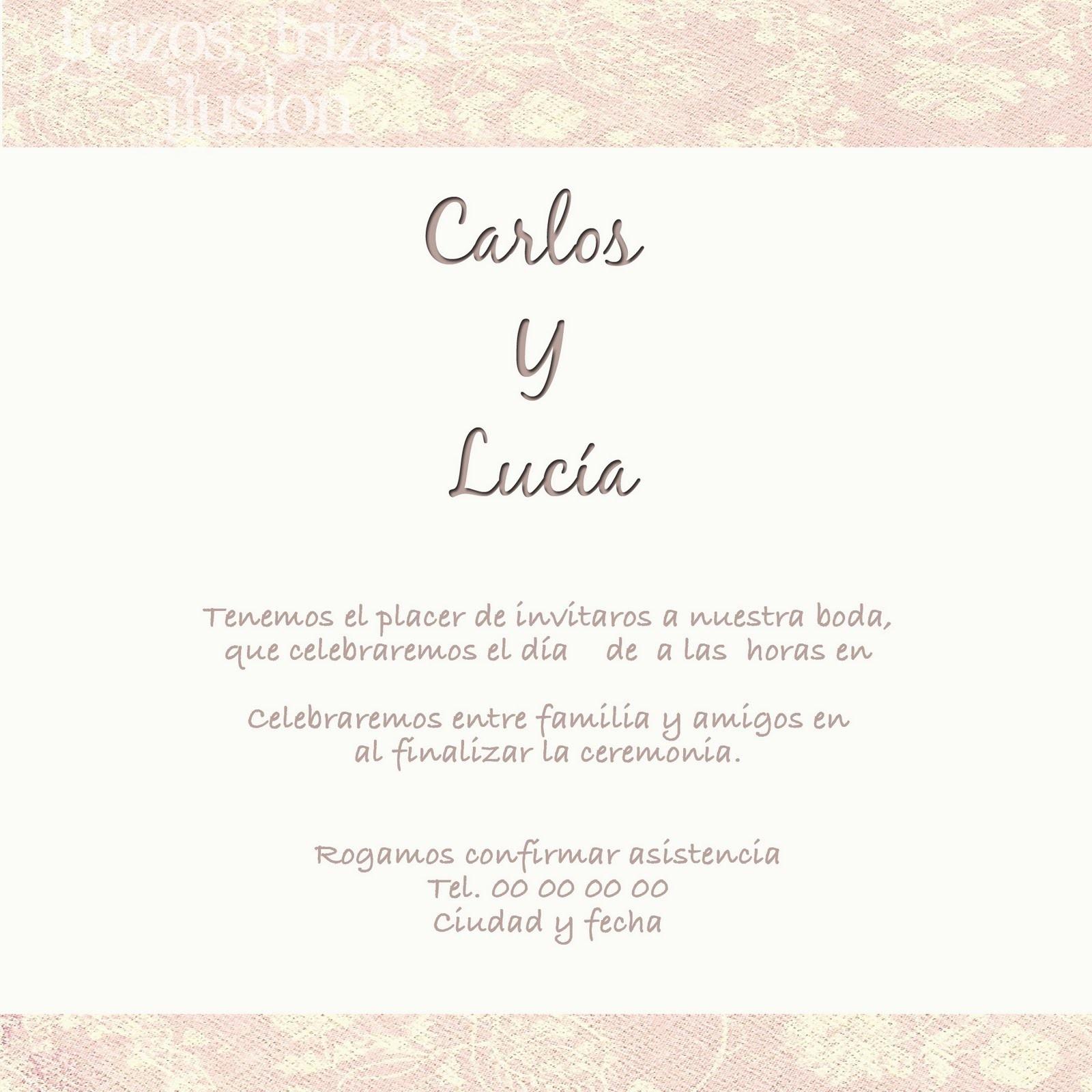 Ceremonia Civil Invitacion De Boda Civil