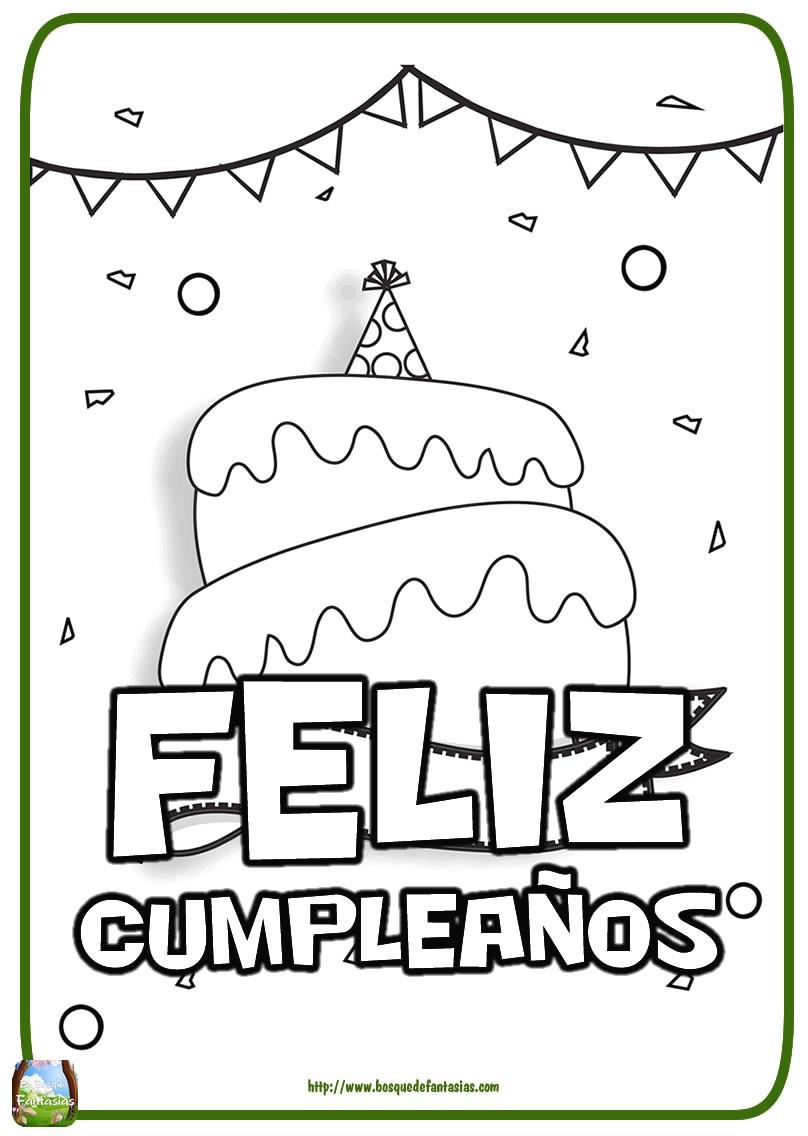 Invitaciones De Cumpleaños Para Imprimir Y Colorear Elegante Dibujos