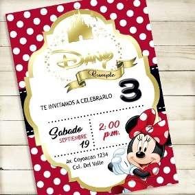 8000a78e6 Invitaciones De Minnie Mouse Para Bautizo Lujo Invitaciones Minnie Mouse  Impresas Recuerdos Cotill³n Y Fiestas Of