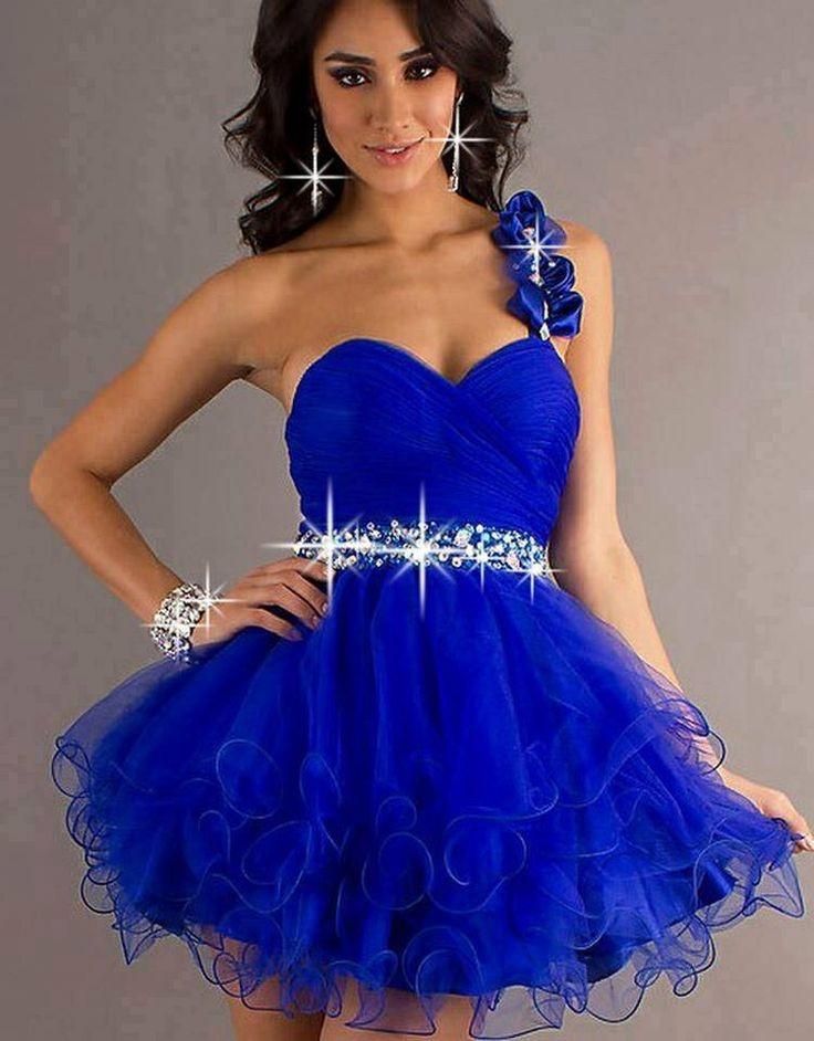 Fotos de vestidos de xv azul rey