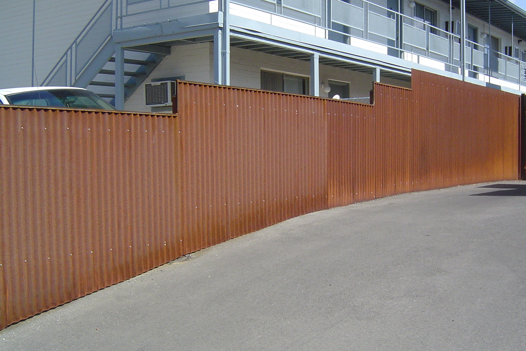 Best Corrugated Metal Privacy Fence Peiranos Fences Install within measurements 1725 X 1152