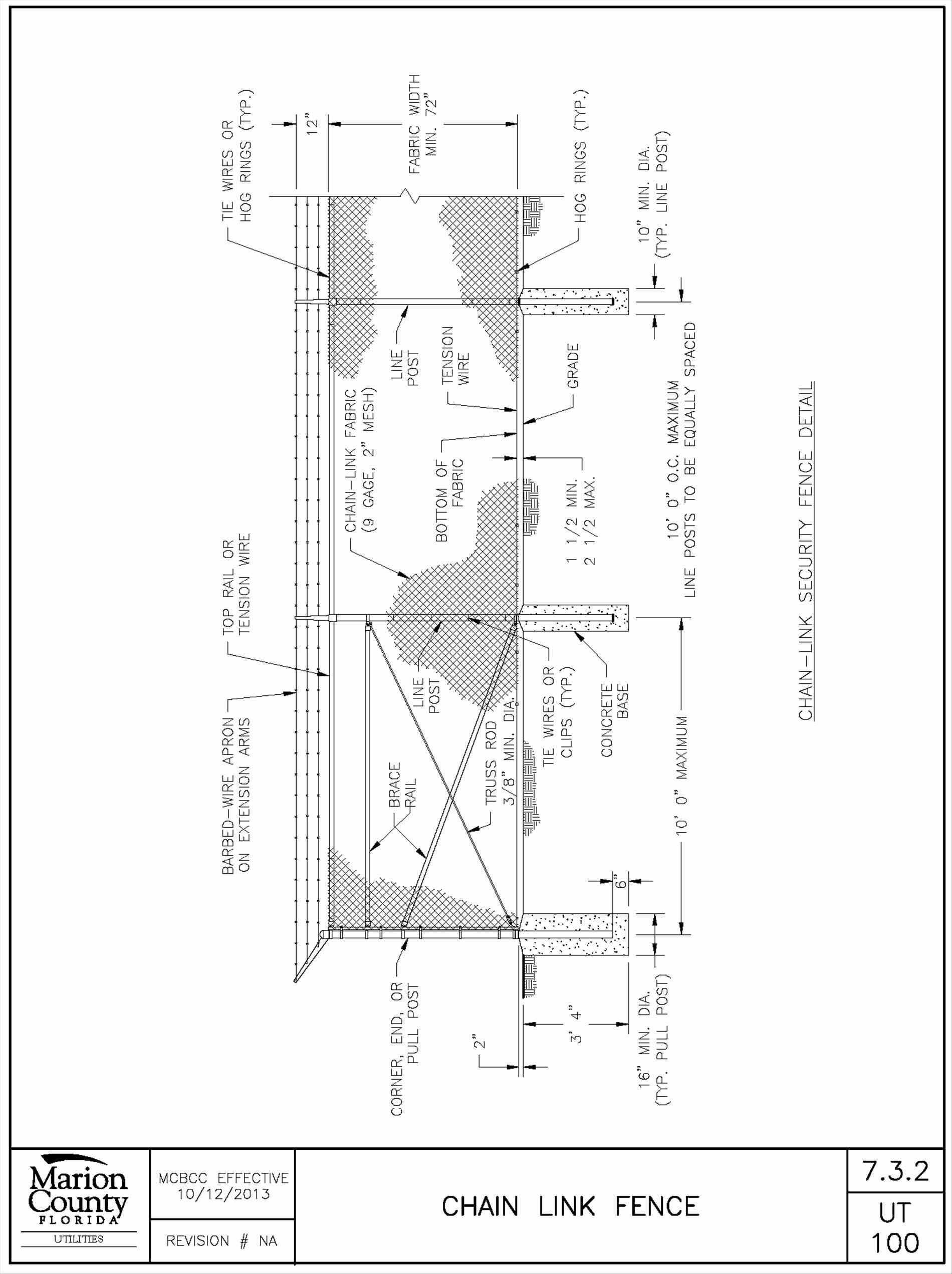 Chain Link Fence Drawings Cad • Fences Design