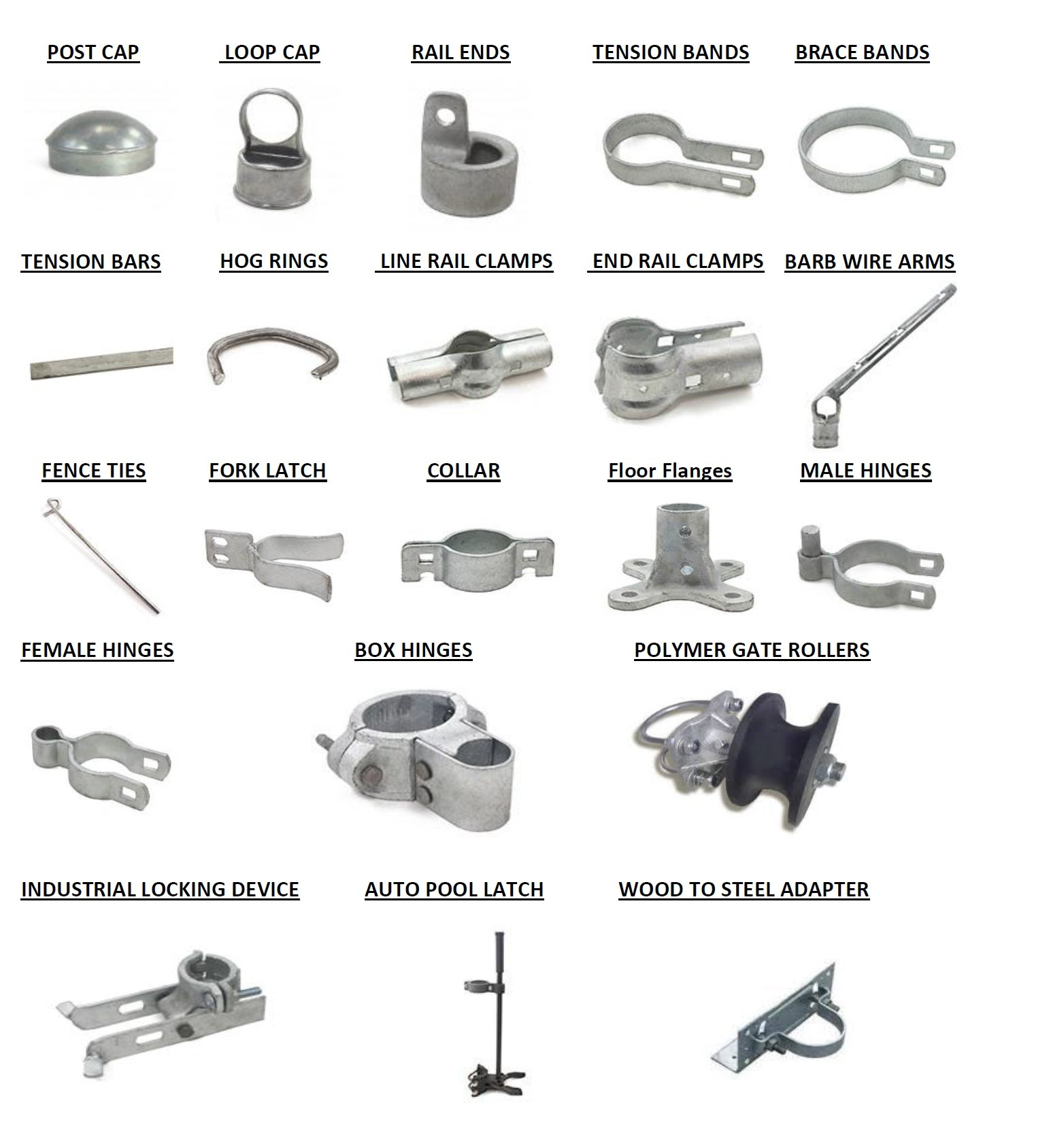 Chain Link Fence Fittings Spaulding Fence Supply regarding dimensions 1542 X 1688