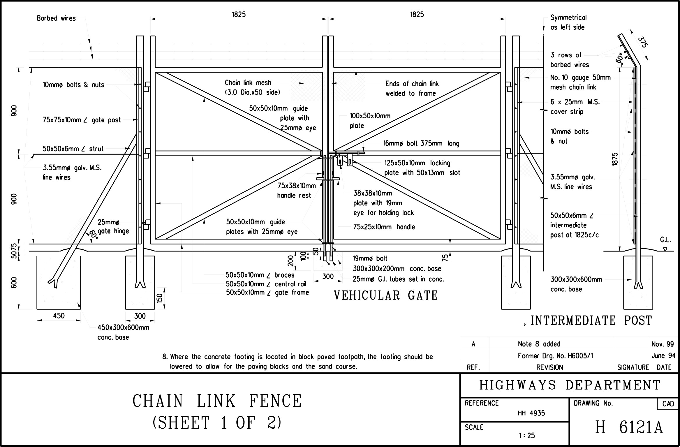 Chain Link Fence Standard Drawing Autocadpdf Presagio Dinfinito in sizing 2334 X 1534