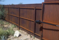 Corrugated Steel Fence And Gates Affordable Fence Gates throughout dimensions 2048 X 1155