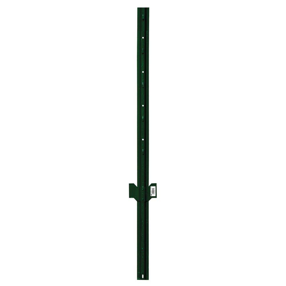 Everbilt 2 14 In X 2 12 In X 4 Ft Green Steel Fence U Post pertaining to measurements 1000 X 1000