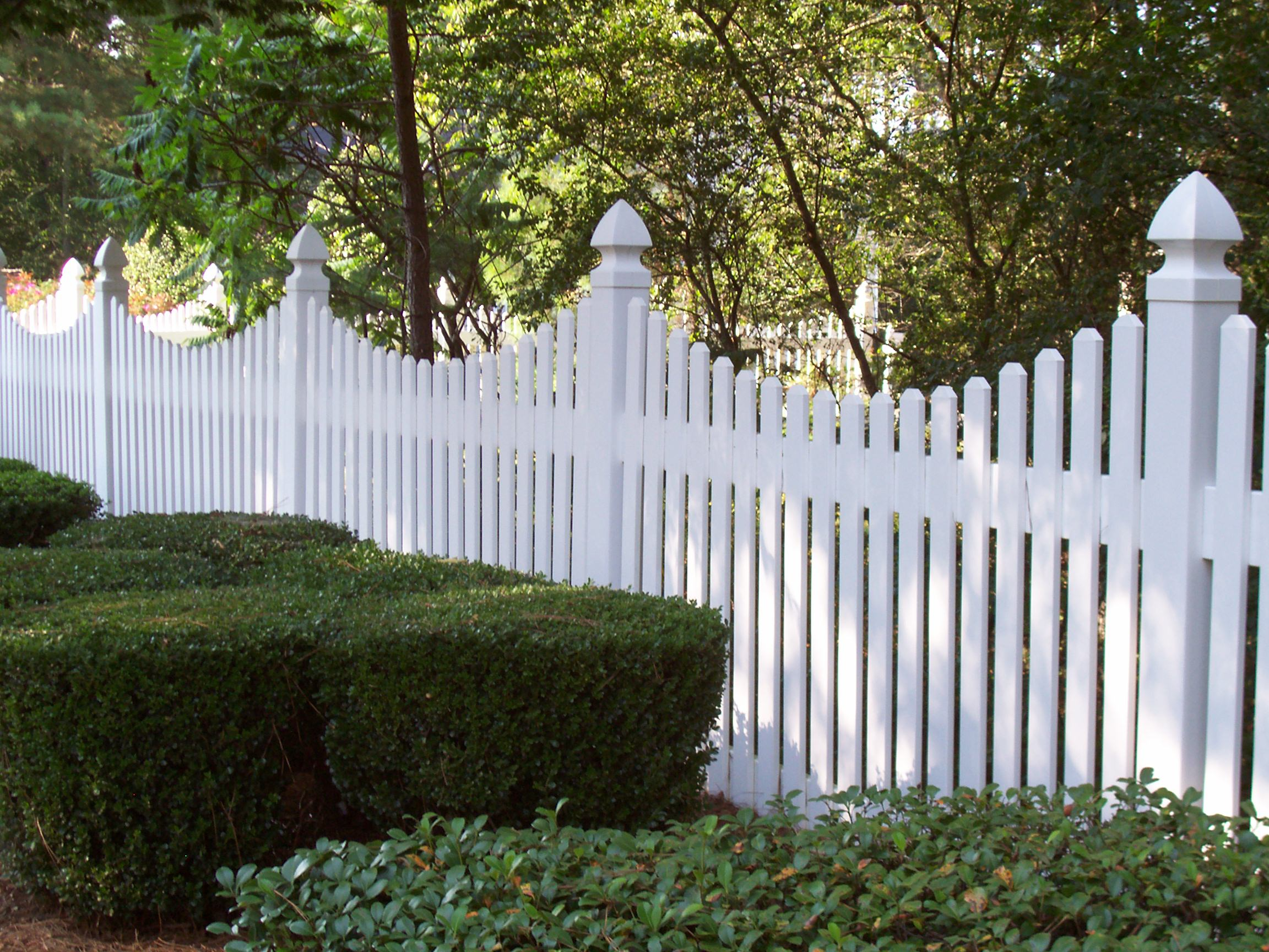 Fence 5 Foot Vinyl Fence Dazzling Endearing 5 Foot Vinyl Picket intended for size 2304 X 1728