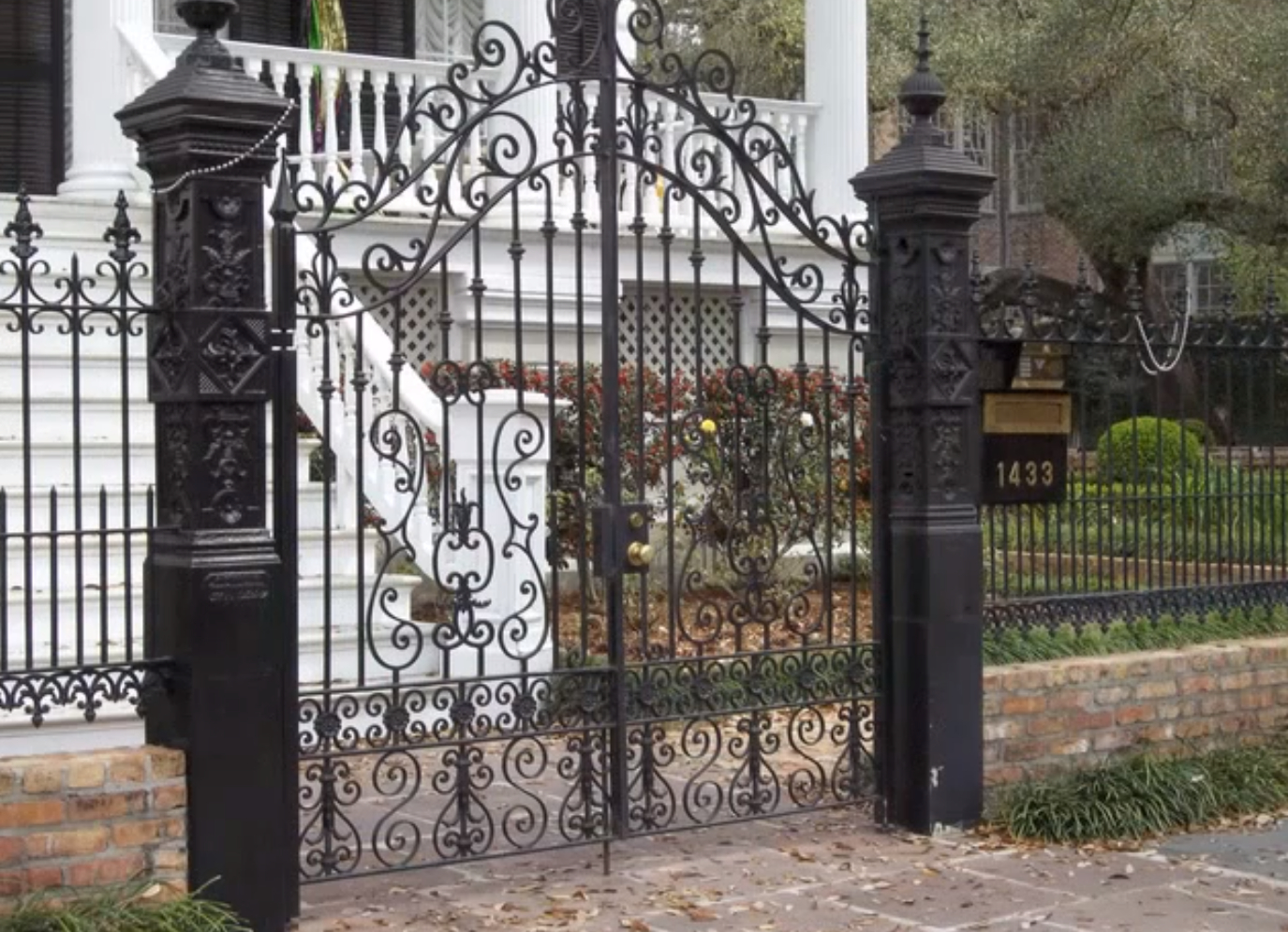 Fence Beautiful Decorative Metal Fence New Orleans Interior for dimensions 1375 X 995