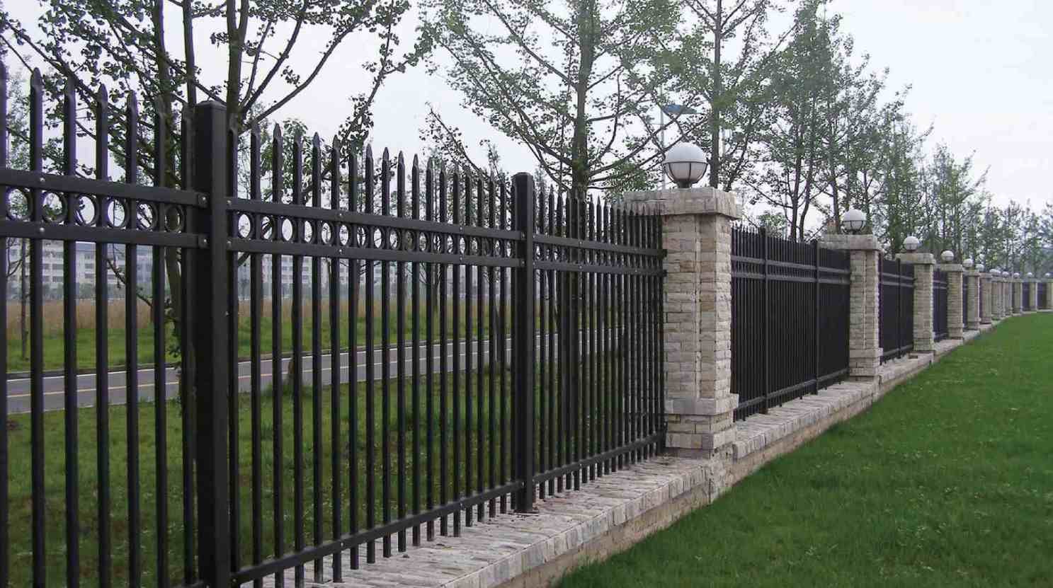 Fence Beautiful Modern Metal Fence Panels 89 For With Modern intended for proportions 1487 X 831
