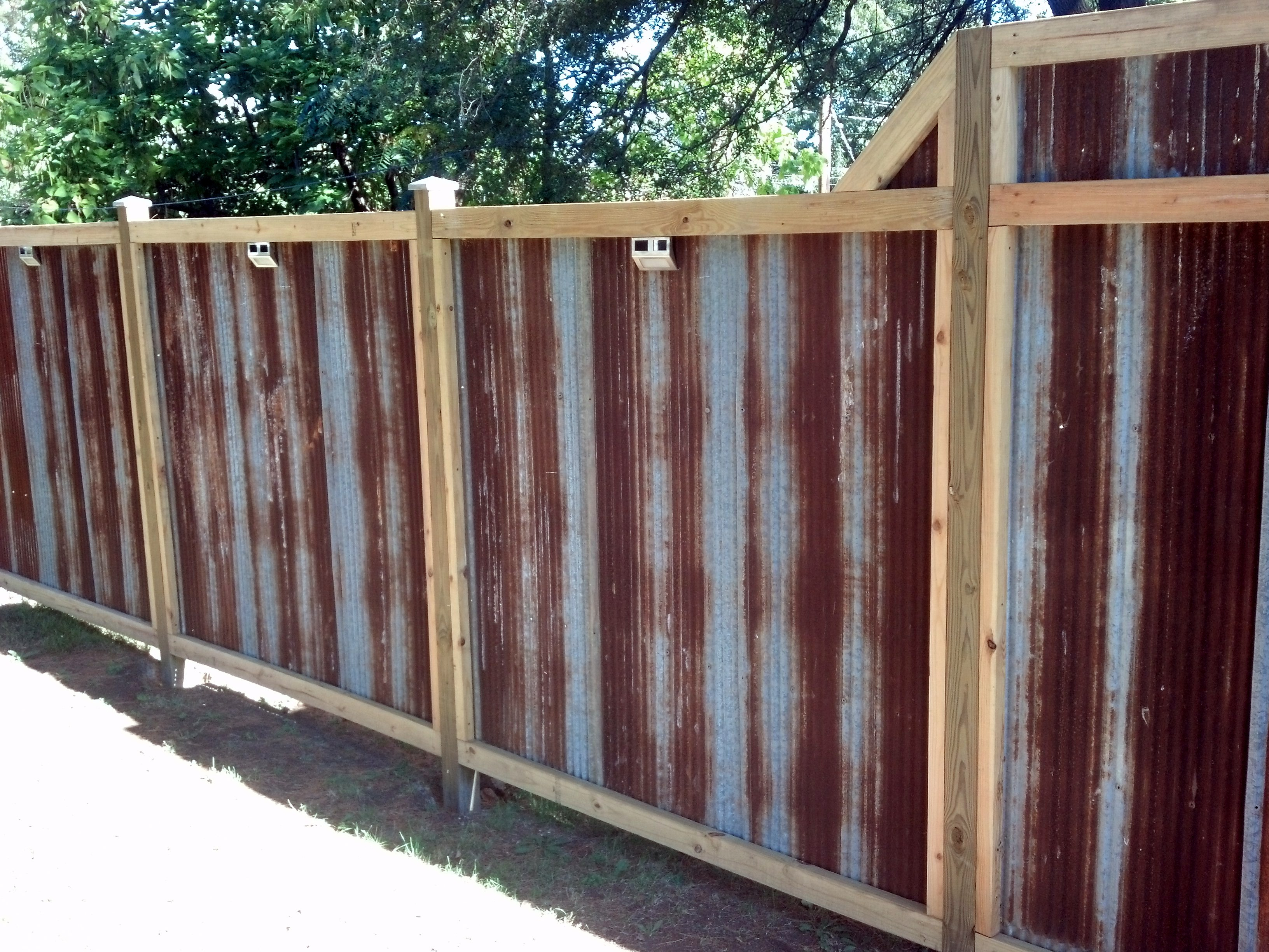 Fence Beautiful Wood And Metal Fence Privacy Fences Favorite throughout sizing 3264 X 2448