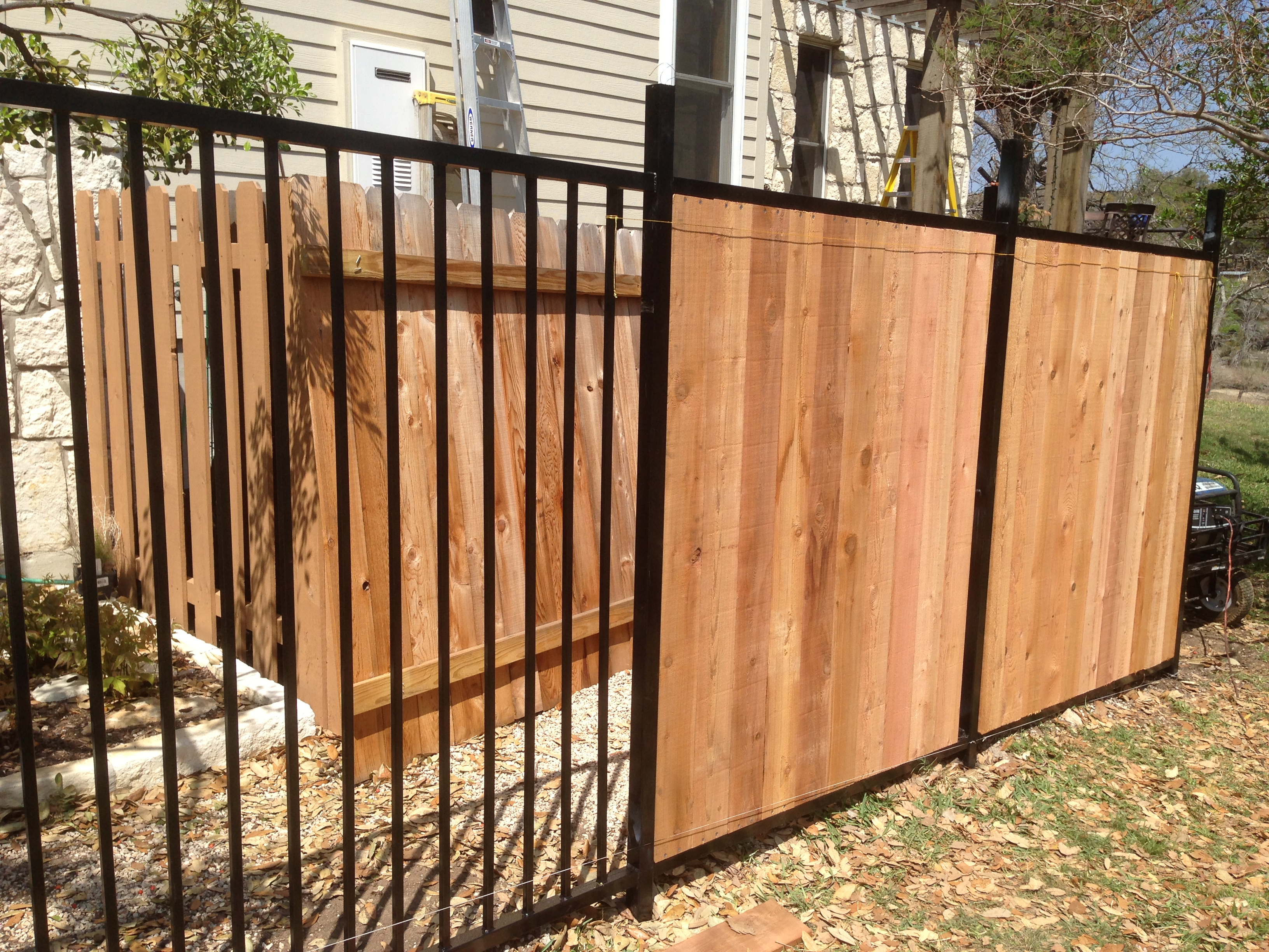 Fence Cool Wrought Iron Wood Gates And Fences Awesome Electric pertaining to measurements 3264 X 2448