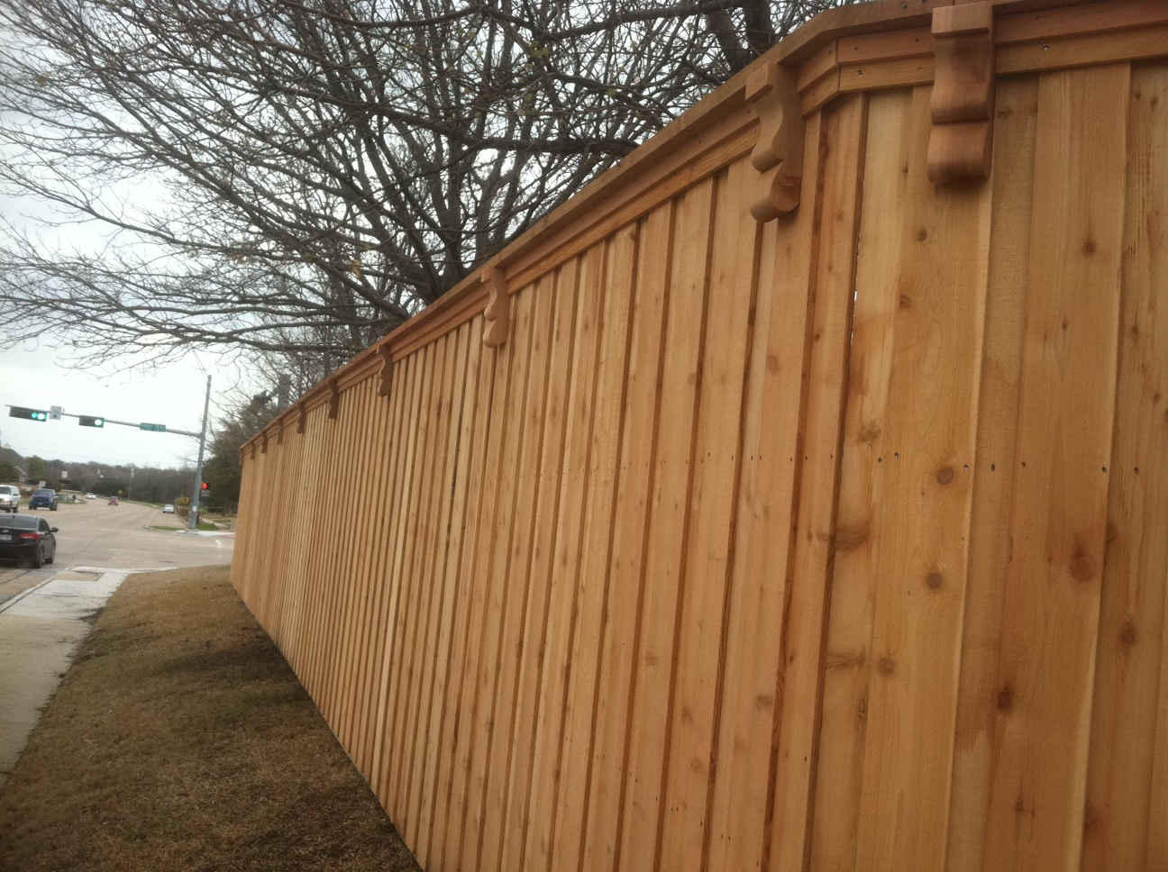 Fence Design Arched Trim Fence Fort Worth Ft Wood Fences Tx pertaining to proportions 1296 X 968