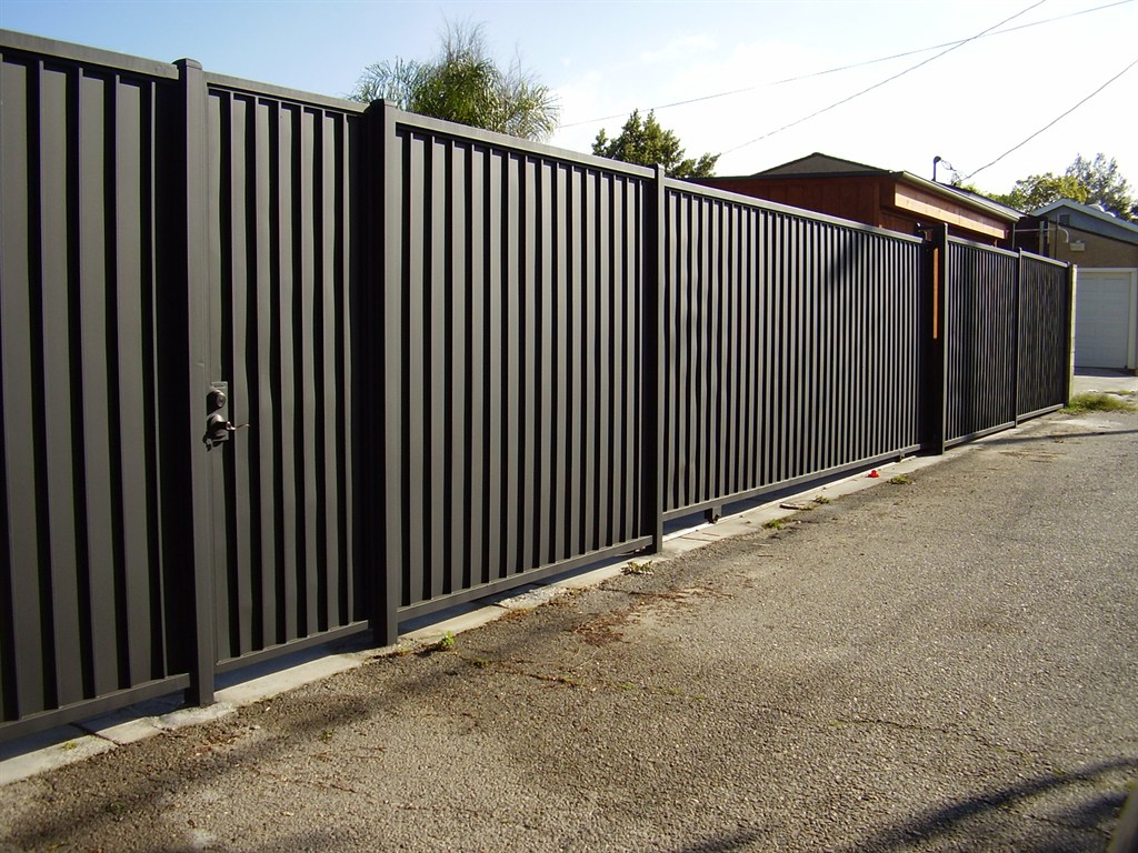 Fence Design Corrugated Metal Privacy Fence Style Onguard with regard to size 1024 X 768